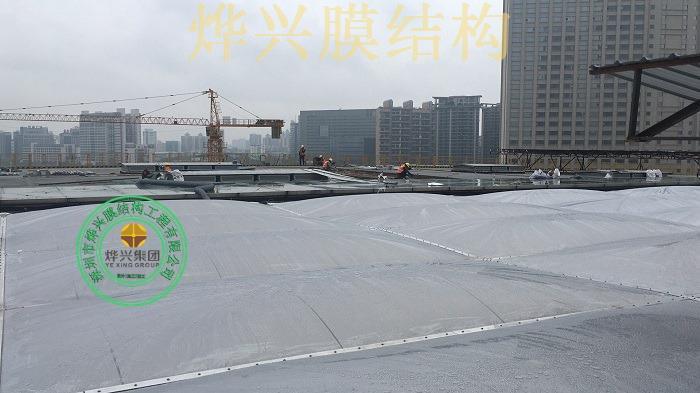 烨兴-东莞市民中心ETFE膜结构屋面建设介绍