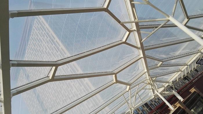 为什么很多ETFE膜结构的膜面上都有图案斑点?