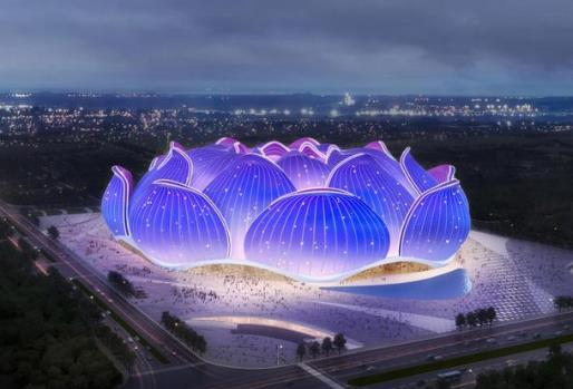 广州恒大新足球场会采用膜结构建筑形式吗?