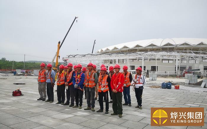 烨兴-京山国际网球赛事中心膜结构项目近况