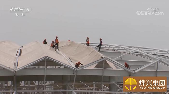 烨兴-京山网球膜结构项目上央视CCTV-5啦