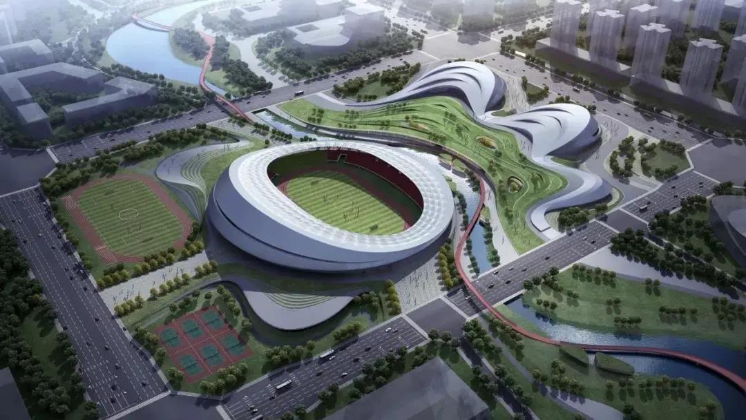 ■■■■□80% | 乐山市奥林匹克中心项目建设进程