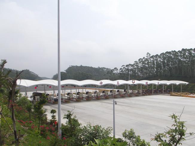 广西中马园区大型膜结构收费站工程