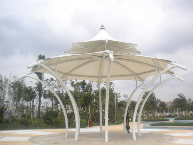 大岭山公园景观膜结构凉亭工程