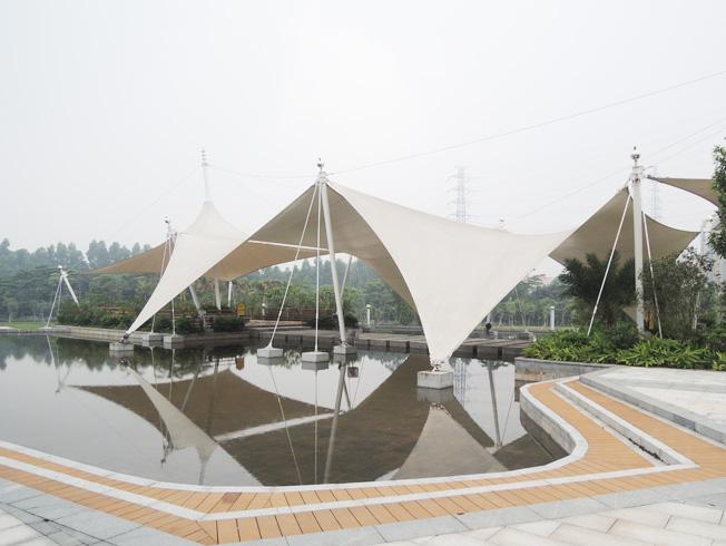 东莞黄旗山公园景观膜结构工程