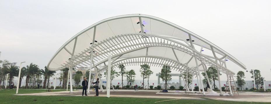珠海金山景观膜结构大门雨棚工程