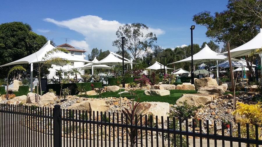 文莱皇室水晶公园景观膜结构工程