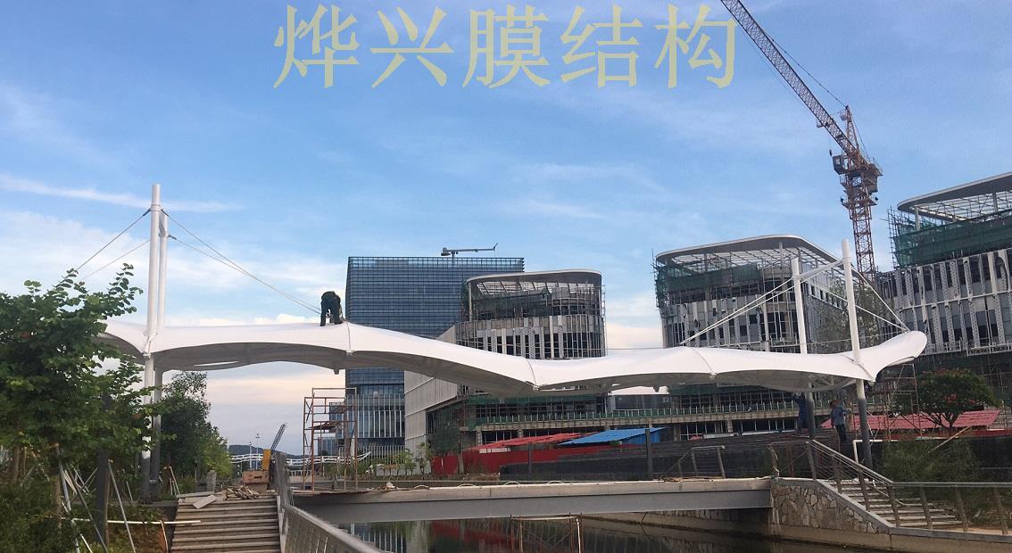烨兴-珠海天桥雨棚遮阳棚景观类膜结构