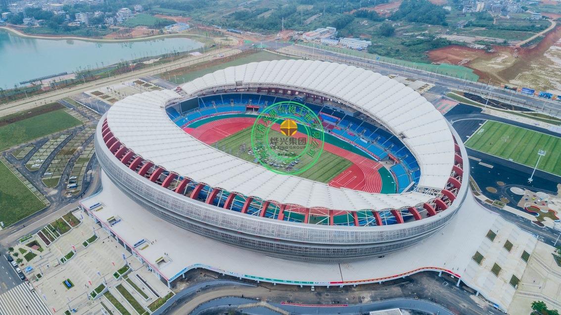 广西崇左体育中心PTFE膜结构场馆