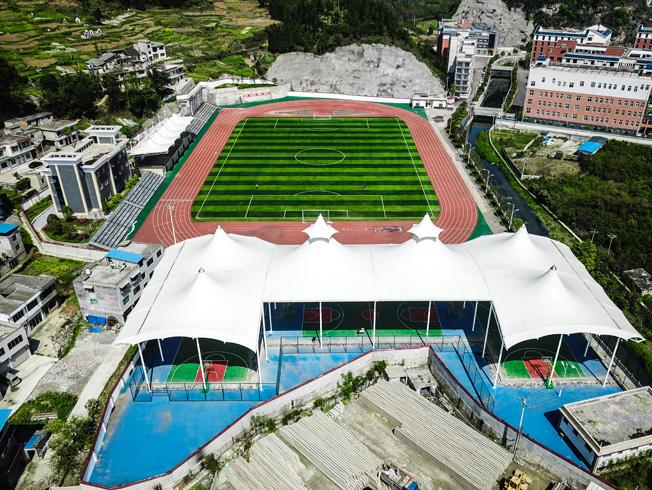 桐梓二中体育场膜结构工程